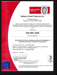Nahanni ISO Cert 2014-2017